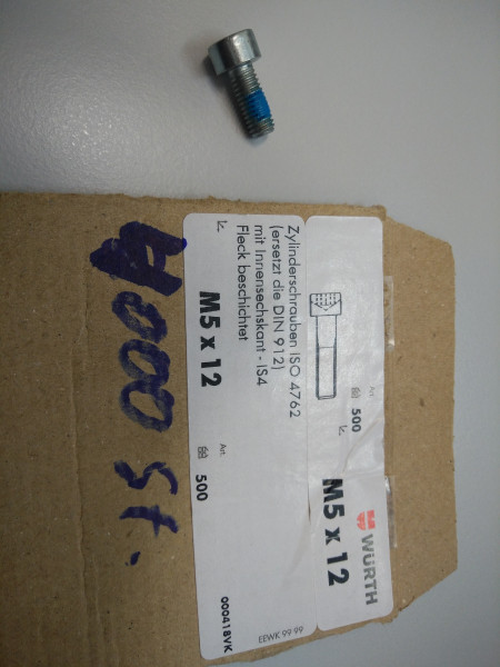 Schraube Mahlkammer an Motor M5x12 Fleck beschichtet NO610 Zylinderschraube ISO 4762 mit Innensechsk